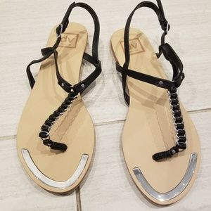 Dolce Vita leather flats sandals size 7